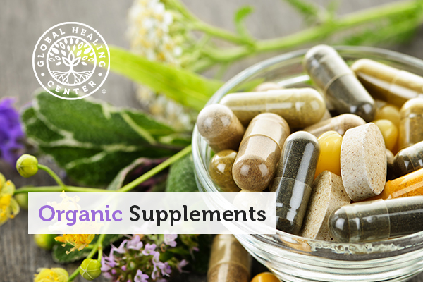 A bowl of organic supplements.