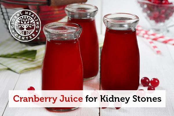 Glasses of cranberry juice.