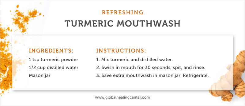 Our turmeric mouthwash recipe is refreshing and perfectly natural.