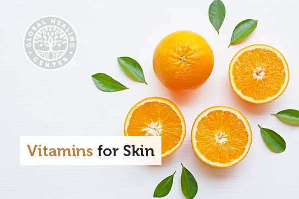 Several oranges, which are high in vitamin c.