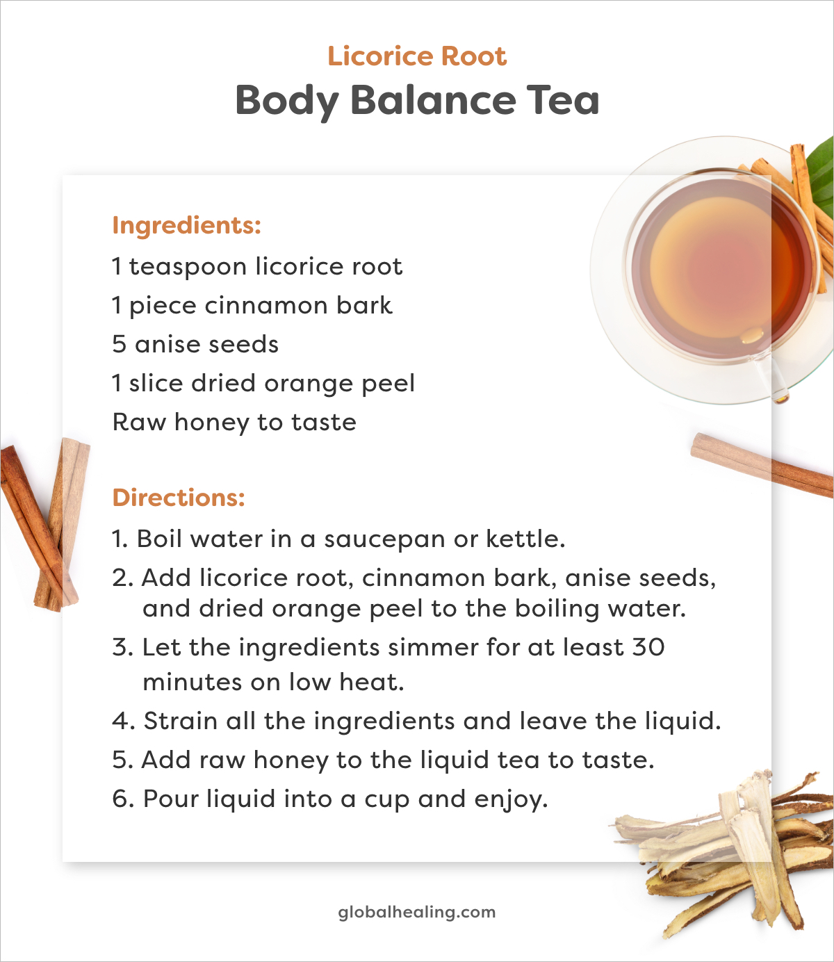 Body Balance Tea recipe