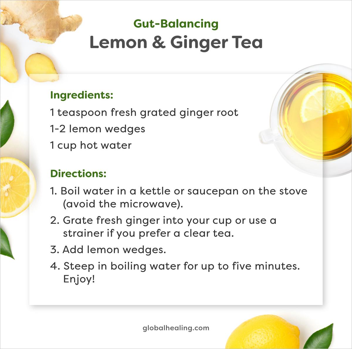 Lemon and Ginger tea recipe