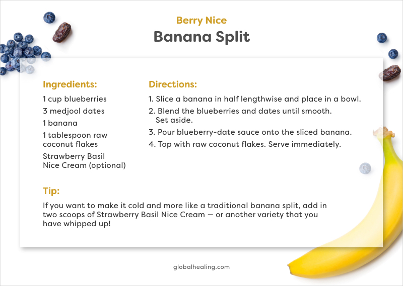 Berry Nice Banana Split Recipe