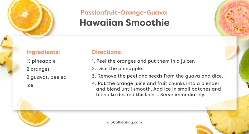 Passionfruit-Orange-Guava Hawaiian Smoothie Recipe