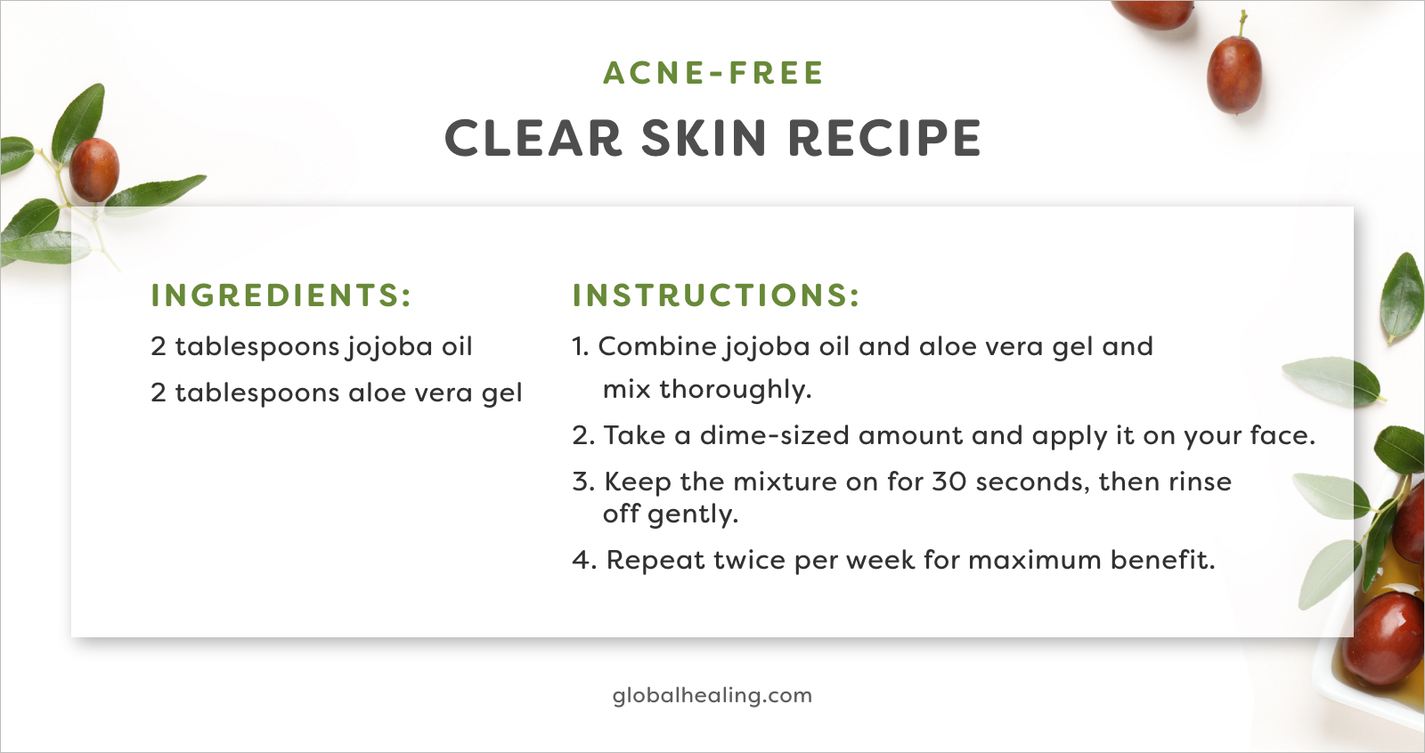 Try this clear skin recipe that'll transform your skin.